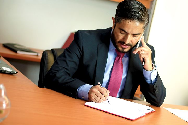 lawyer talking to someone over the phone
