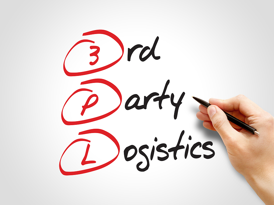 3PL- 3rd Party Logistics acronym business concept